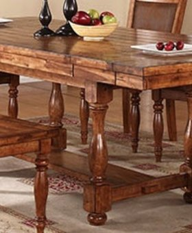 "TABLE <h2>GRAND ESTATE 92"" PEDESTAL TABLE WITH 12"" LEAVES</h2>"