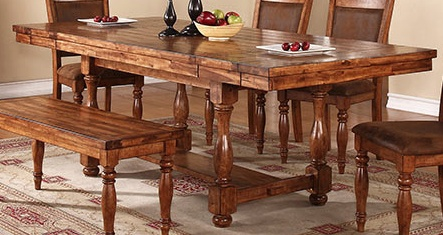 """TABLE GRAND ESTATE 92"""" PEDESTAL TABLE WITH 12"""" LEAVES"""