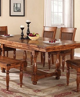 DINING GRAND ESTATE PEDESTAL TABLE DINING SET