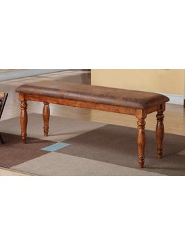"""DINING <h2>48"""" BENCH WITH CUSHIONED SEAT ACACIA WOOD</h2>"""