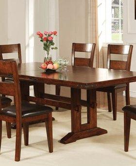 DINING MANGO TRESTLE TABLE DINING SET