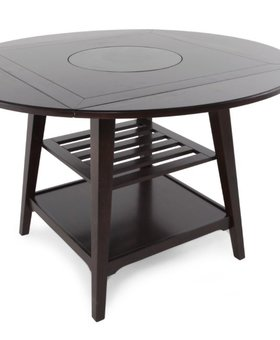 "DINING PARKSIDE 60"" ROUND CAFE TABLE WITH LAZY SUSAN"