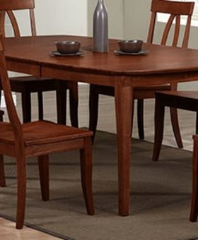 "DINING 78"" SANTA BARBARA LEG TABLE CHESTNUT FINISH"