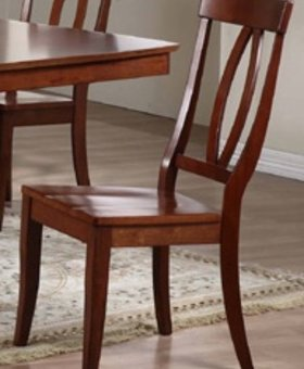 DINING KEYHOLE SIDE CHAIR CHESTNUT FINISH