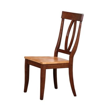 DINING KEYHOLE SIDE CHAIR FRUITWOOD FINISH