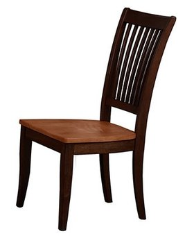DINING SLAT BACK SIDE CHAIR - SOLID WOOD - CHESTNUT ESPRESSO FINISH