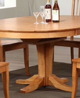 """DINING 66"""" PEDESTAL TABLE WITH 18"""" BUTTERFLY LEAF"""