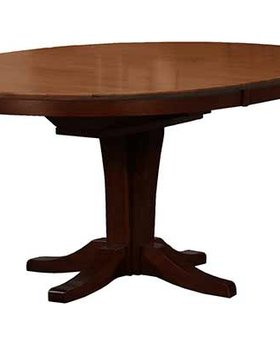 """DINING 66"""" PEDESTAL TABLE WITH 18"""" BUTTERFLY LEAF  CHESTNUT ESPRESSO FINISH"""