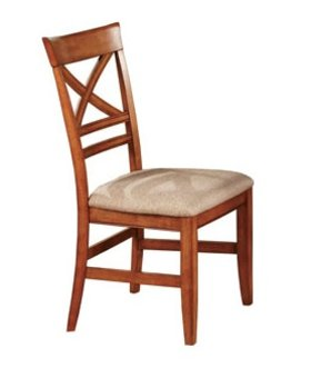 DINING TOPAZ X BACK SIDE CHAIR CINNAMON