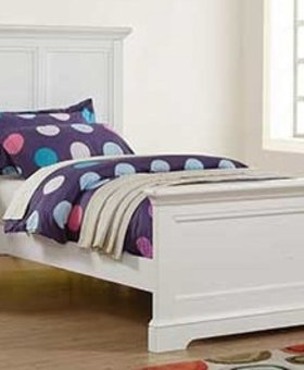 BEDROOM TAMARACK TWIN PANEL BED WHITE FINISH