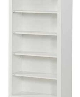 "BEDROOM TAMARACK 32"" OPEN BOOKCASE WHITE FINISH"