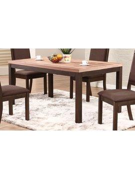 "DINING VENICE 66"" LEG TABLE WALNUT AND ESPRESSO FINISH"
