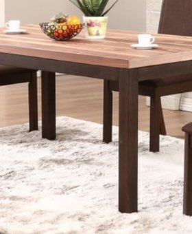 "DINING VENICE 66"" LEG TABLE WALNUT AND ESPRESSO FINISH"