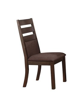 DINING VENICE LADDER BACK AND CUSHION SIDE CHAIR ESPRESSO FINISH
