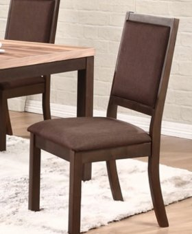 DINING VENICE CUSHION BACK AND SEAT SIDE CHAIR ESPRESSO FINISH