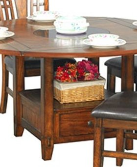 "DINING ZAHARA 60"" TABLE WITH LAZY SUSAN"