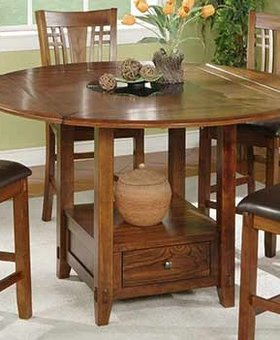 """TABLE ZAHARA 60"""" ROUND TABLE WITH LAZY SUSAN COUNTER HIEGHT"""