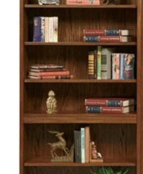 "BOOKCASE ZAHARA 72"" OPEN BOOKCASE MEDIUM OAK FINISH"