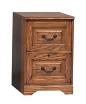 OFFICE 2 DRAWER HERITAGE FILE DARK OAK