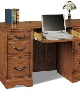 "OFFICE 48"" FLAT TOP DESK HERITAGE DARK FINISH"