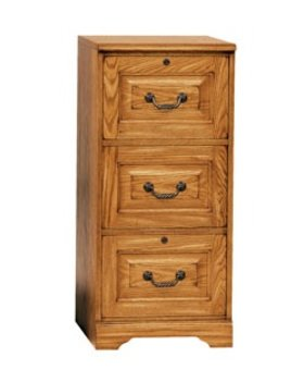 FILE CABINET 3 DRAWER FILE LIGHT OAK FINISH