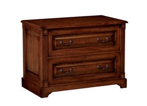 OFFICE 2 DRAWER LATERAL FILE COUNTRY CHERRY FINISH