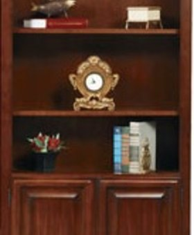 """BOOKCASE COUNTRY CHERRY 32"""" BOOKCASE WITH DOORS"""