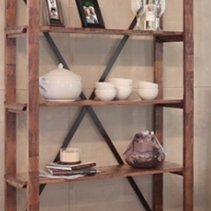 BOOKCASE PUEBLO BOOKCASE WITH 5 FIXED SHELVES