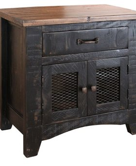 BEDROOM PUEBLO NIGHTSTAND BLACK FINISH