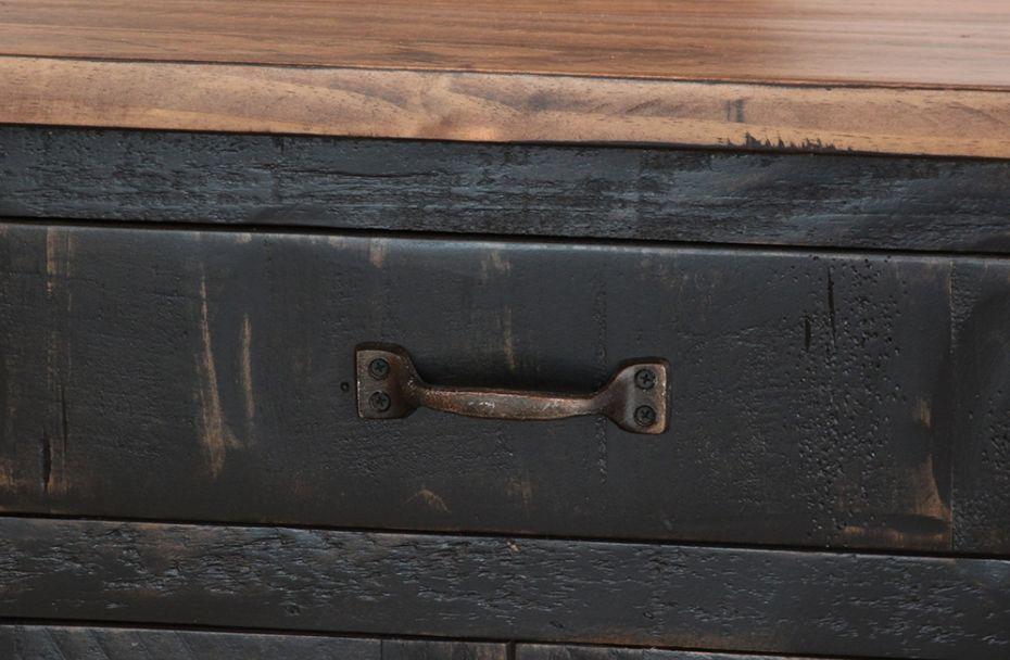 BEDROOM PUEBLO 1 DRAWER NIGHTSTAND BLACK FINISH