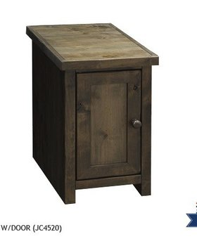 ENTERTAINMENT JOSHUA CREEK CHAIR SIDE TABLE WITH DOOR