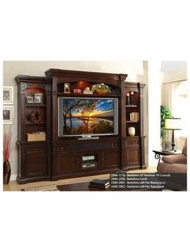 "ENTERTAINMENT BERKSHIRE PREMIUM 6PC ENTERTAINMENT WALL WITH 76"" CONSOLE"