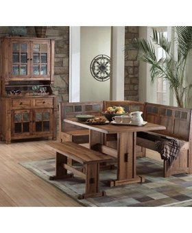 DINING <h2>SEDONA BREAKFAST NOOK SET WITH SIDE BENCE</h2>