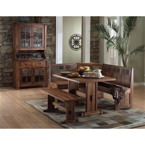 DINING SEDONA NOOK TABLE RUSTIC OAK
