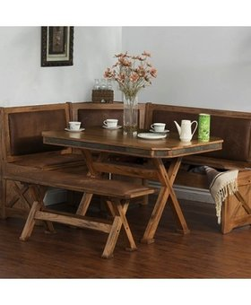 DINING SEDONA BREAKFAST NOOK SET WITH SIDE BENCE