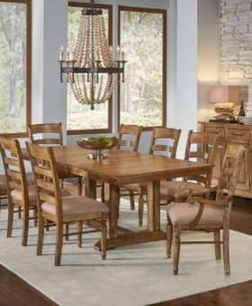 "DINING BENNETT TRESTLE TABLE WITH 1  20"" LEAF"