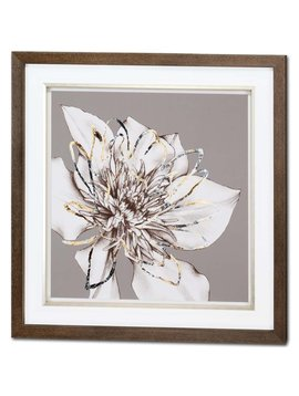 ACCESSORIES FROSTED FLORAL II WALL ART