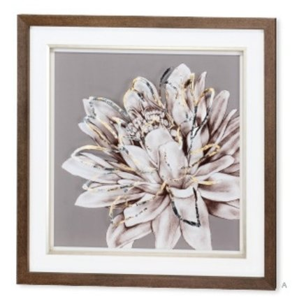 ACCESSORIES FROSTED FLORAL I WALL ART