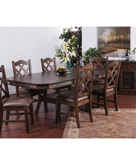 DINING <h2>SAVANNAH BUTTERFLY LEAF DINING SET<h2>