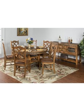 DINING <h2>SEDONA ROUND TABLE WITH LAZY SUSAN & 6 STOOLS</h2>