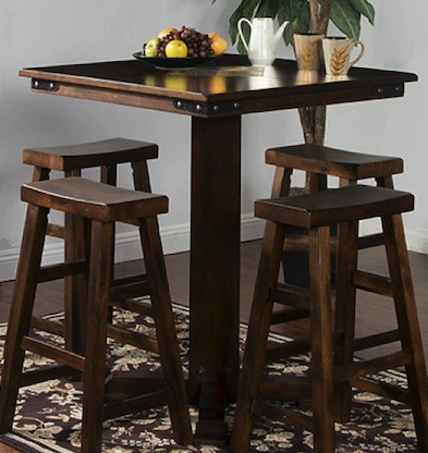 DINING SANTA FE SLATE TOP PUB TABLE