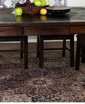 DINING <h2>SANTA FE EXTENSION TABLE WITH SLATE TOP</h2>