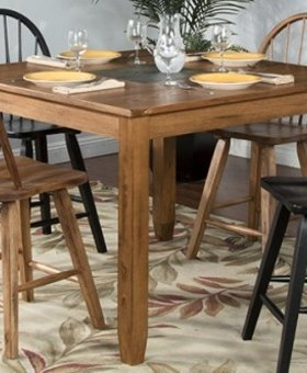 DINING SEDONA SQUARE COUNTER HIGH TABLE WITH SLATE