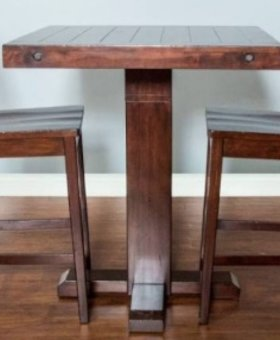 DINING VINEYARD PUB TABLE WITH ADJUSTABLE HEIGHT