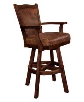 "DINING SANTA FE 30"" BAR SWIVEL STOOL WITH CUSHION SEAT AND BACK"