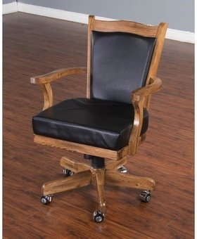 ENTERTAINMENT SEDONA GAME CHAIR WITH CASTERS CUSHION SEAT AND BACK