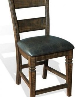 "DINING 30"" HOMESTEAD LADDERBACK BARSTOOL WITH CUSHION SEAT"