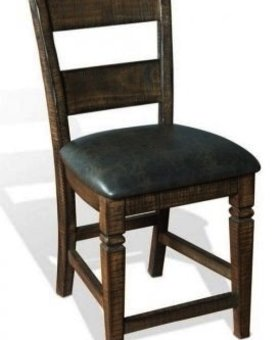 """DINING 30"""" HOMESTEAD LADDERBACK BARSTOOL WITH CUSHION SEAT"""