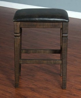 """DINING 30"""" HOMESTEAD BACKLESS STOOL WITH CUSHION SEAT"""