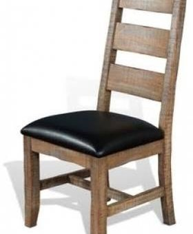 DINING PUEBLA LADDERBACK CHAIR WITH CUSHION SEAT